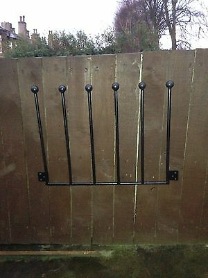 3 Pair Wrought Iron Wall Mounted Welly Wellington Boot Rack Stand 2/3/4/5/6 Av