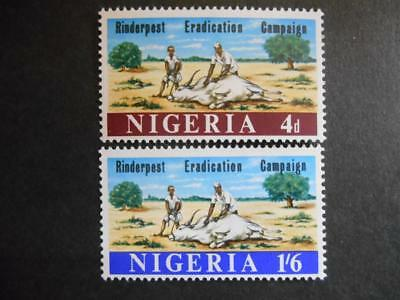 Nigeria 1967 Rinderpest Eradication Campaign SG 205-6 MNH; Cattle Disease Vet