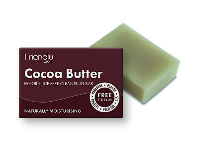 Friendly Soap Cocoa Butter Fragrance Free Facial Cleansing Soap 95g