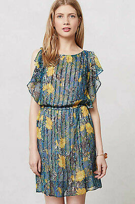 7f9f3bc48c1af NIP Anthropologie Silk Pleated Daylily Dress Plenty by Tracy Reese Sz M $248