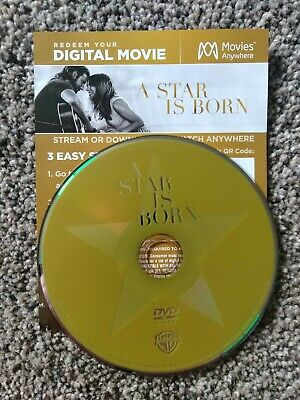 A Star Is Born (DVD + Digital; 2018) No Blu-ray or case code is Brand New