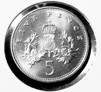 1983 Brilliant uncirculated 5p Coin,Five Pence,Bunc/Unc/Bu, UK/GB, Royal Mint