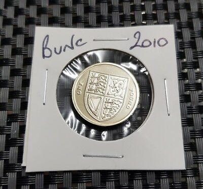 2010 Brilliant Uncirculated £1 coin, Royal Mint, GB/UK,One Pound,Unc/Bunc/Bu