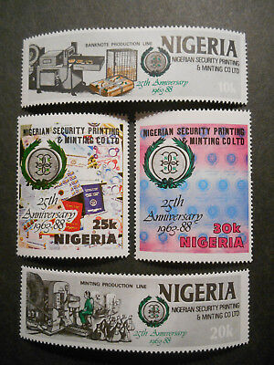 Nigeria 1988 Nigerian Security Printing & Minting Company 1963-88 SG 568-571 MNH
