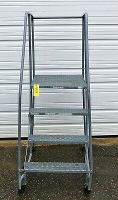Terrific 8 Step Steel Rolling Warehouse Safety Ladders Osha Approved Pdpeps Interior Chair Design Pdpepsorg