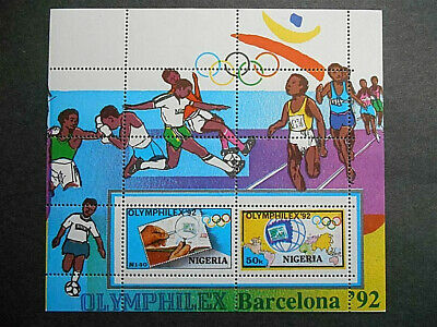 "Nigeria 1992 ""Olymphilex '92"" Olympic Stamp Exhibition Barcelona SG MS632 MNH"