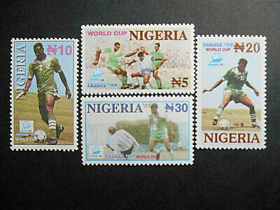 Nigeria 1998 World Cup Football Championships France SG 722-725 MNH