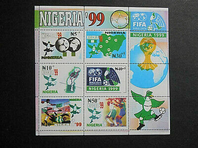 Nigeria 1999 World Youth Football Championships SG MS741 (SG 735-40) MNH Trophy
