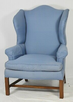 Kittinger Williamsburg Mahogany Chippendale Wing Back Arm Chair WA 1012