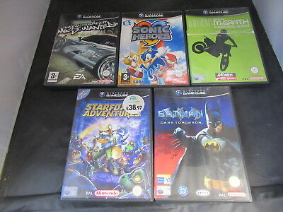 Job Lot of 5 x GameCube Game Cases 4 with Manual 1 Without inc Starfox NO GAMES