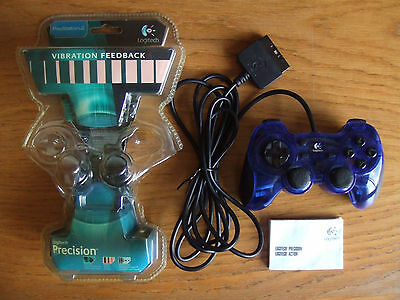 Mando/controller/pad Precision Action Logitech PS1/PS2 alámbrico/con cable/wired