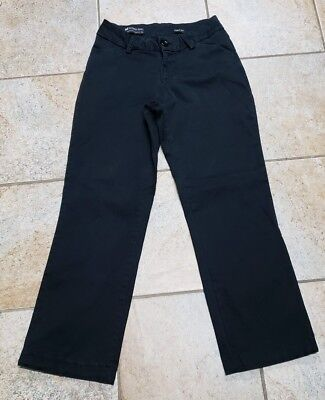 LEE Womens Modern Series Curvy Fit Black You Are Beautiful Pants Size 4P Short