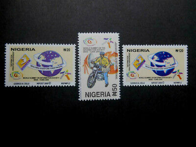 Nigeria 2005 World Summit on the Information Society, Tunis SG 827-829 MNH