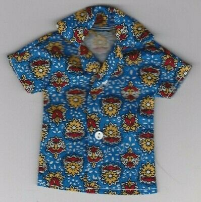 Homemade Doll Clothes-Blue With Kittys Print Shirt fits Ken Doll B7