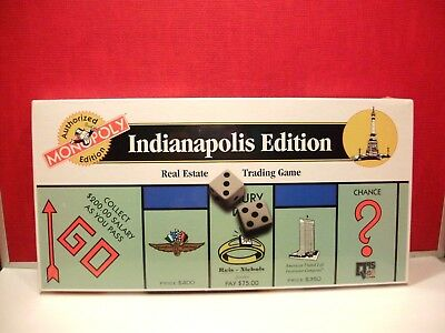 Monopoly Indianapolis Edition Real Estate Trading Board Game - Factory Sealed