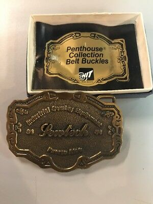 Vintage Belt Buckle Industrial Sewing Equipment 84' Sewtech Puerto Rico In Box