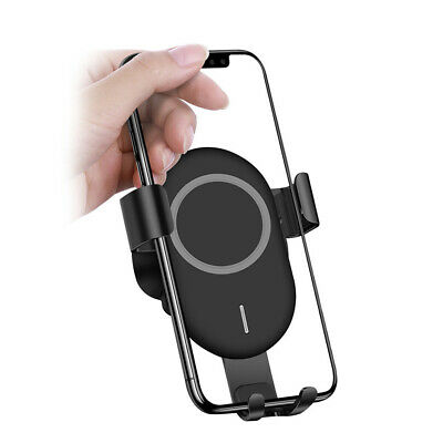 Qi Wireless Fast Car Charger Dock Stand Bracket For Samsung S10 iPhone 8 X XS XR