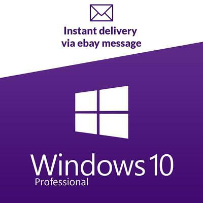Microsoft Windows 10 Pro Professional 32/64-bit Activation Product Key