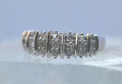 1/2 CT. TW Genuine Diamond Ring Sterling Silver Size 9 Original Priced $445