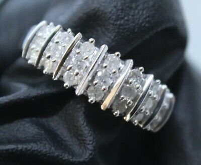 1/2 CT. TW Genuine Diamond Ring Sterling Silver Size 6 Original Priced $445