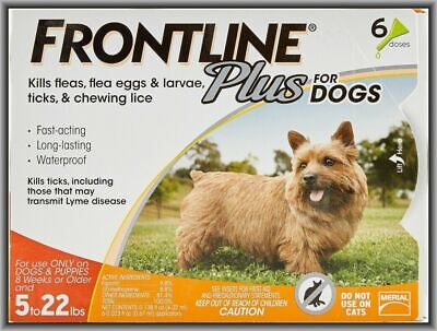 Frontline Plus Flea & Tick for Small Dogs 5 to 22 lbs 6 Doses