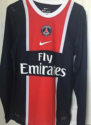 8d28dd96cd1 Paris Saint-Germain PSG jersey 2010 2011 home shirt longsleeve Size Small
