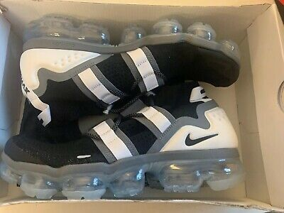 detailed look d5d11 05d88 Nike Air Vapormax Fk Utility Ah6834-003 Black Cool Grey White New Size 10