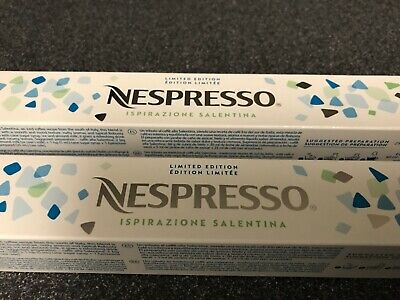 NESPRESSO 20 Capsules ISPIRAZIONE SALENTINA ICE COFFEE  LIMITED EDITION  NEW