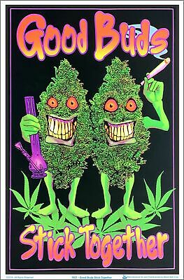 Good Buds Stick Together Blacklight Poster 23 x 35