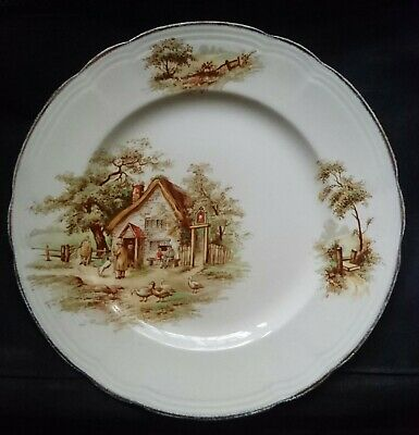 """ALFRED MEAKIN DINNER PLATE x1 """"The Rest"""" pattern - Circa 1940s - LOOK!"""
