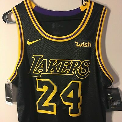 2c81192bc52 Kobe Bryant Black Mamba Los Angeles Lakers Nike City Edition Jersey #24 XL  3XL