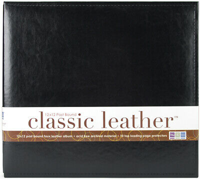 "We R Memory Keepers We R Classic Leather Post Bound Album 12""X12""-Black"