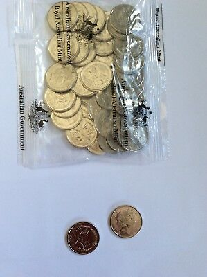 2018 5 Cent Coin Uncirculated five cent coin ( 2 of ) x ram bag
