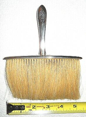 Sterling Silver & Horsehair Victorian Gentleman's Hat and Coat Brush