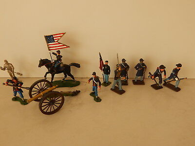 Collection Union Metal Toy Soldiers Artillery Cavalry ACW Civil War 54 mm