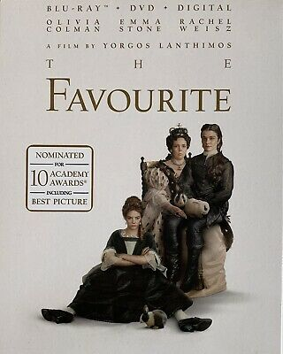 THE FAVOURITE ~ Blu-Ray + DVD + Digital *New *Factory Sealed