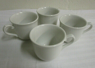 Set of 4 Churchill White Coffee Tea Cups Made In England