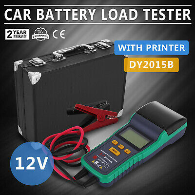 Battery Tester for 12V Lead-Acid Battery With Printer Car Safe Load WISE CHOICE