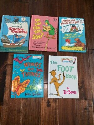 Lot 5 I Can Read By Myself/Bright & Early Hardcover Books Dr Seuss Beginner