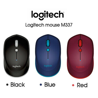 Logitech M337 Bluetooth Wireless Mouse - Red/Blue/Black PC MAC CHROME ANDROID