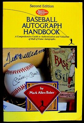 1991 Sports Collectors Digest Scd Baseball Autograph Handbook 2Nd Edition