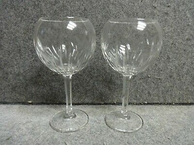 2 Waterford Crystal Stemmed Millennium LOVE Hearts Balloon Toasting Goblets