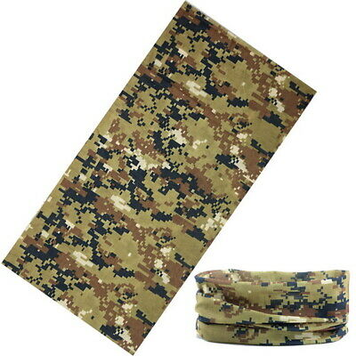 Pixel Camo Face Mask Neck Gaiter Balaclava Scarf Headwear UV for Fishing Camping