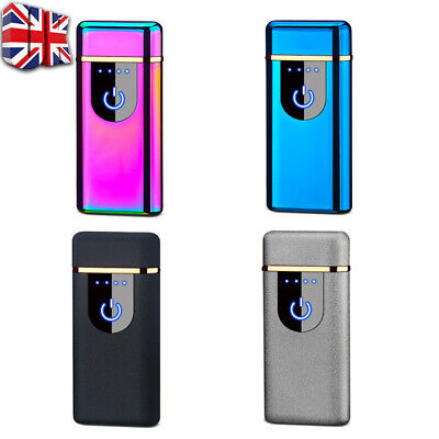 Smart Touch Sensor USB Rechargeable Double Flameless Plasma Electric Lighter A