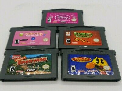 Gameboy Advance Games Lot Frogger Disney Pacman