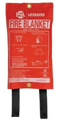 Lifesaver FIRE BLANKET Woven Glass Fibre- 1x1m Or 1.8x1.2m