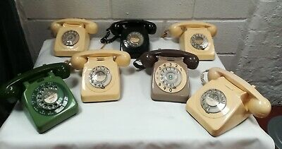 Wow.. Six Vintage 1970' British Telecom  Rotary Dial Telephones. Open To Offers