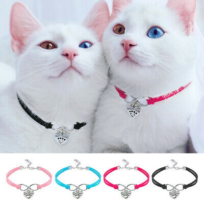 10pcs Wholesale Soft Suede Pet Cat Small Dog Collar Necklace &Pendant Pink Blue