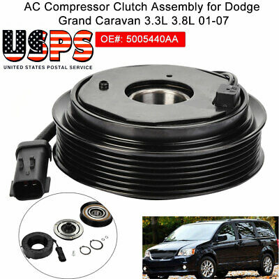 AC A//C Compressor Clutch fit for 1-07 Dodge Grand Caravan Chrysler 3.3L 3.8L V6