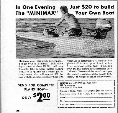 CHRYSLER OUTBOARD MOTOR and Boat Double-Page PRINT AD - 1966